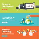 Płaskiego projekta wektorowi ilustracyjni pojęcia dla biznesu Zdjęcie Stock
