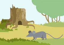 Płaskiej projekt kreskówki dzikich zwierząt zwierząt domowych wektorowi ptaki ilustracja wektor