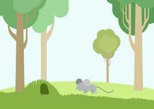 Płaskiej projekt kreskówki dzikich zwierząt zwierząt domowych wektorowi ptaki royalty ilustracja
