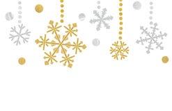 Płatek śniegu chorągiewki papier ciący na białym tle Royalty Ilustracja