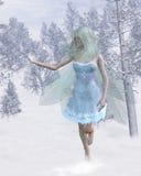 płatek śniegu chwytająca zimna czarodziejska zima ilustracji