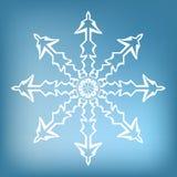 płatek śniegu dekoracyjny Obraz Stock