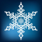 płatek śniegu dekoracyjny Obraz Royalty Free