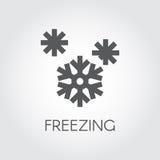 Płatek śniegu ikona w płaskim projekcie Symbol marznięcie i sezony wietrzejemy pojęcie ilustracji
