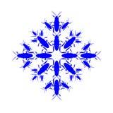 Płatek śniegu ikony grafika Zbierający od karakanów Zdjęcie Stock