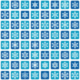 Płatek śniegu ikony Wektorowy set Fotografia Stock