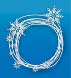 Płatek śniegu na papierowym tle Zdjęcia Stock