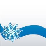 Płatek śniegu na papierowym tle Zdjęcia Royalty Free