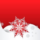 Płatek śniegu na papierowym tle Fotografia Royalty Free