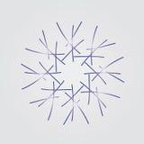 Płatek śniegu na popielatym tle royalty ilustracja