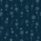 Płatek śniegu na zmroku - błękitny background Obrazy Royalty Free