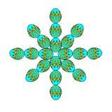 Płatek śniegu od rzeczy Wielkanocnego jajka Pojęcie projekta kartka z pozdrowieniami nowy rok Obraz Stock