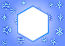 Płatek śniegu rama Fotografia Stock