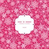 Płatek śniegu tekstury ramy Bezszwowy wzór Fotografia Stock