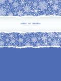 Płatek śniegu tekstury Vertical Drzejący Ramowy Bezszwowy Zdjęcie Royalty Free