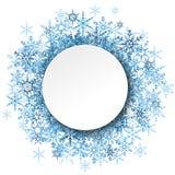 płatek śniegu za bielem opróżniają ramę ilustracja wektor