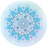 Płatek śniegu Zimy geometryczny mandala Obraz Stock