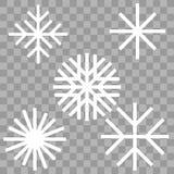 Płatek śniegu zimy set royalty ilustracja