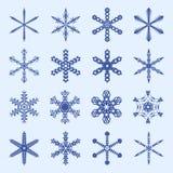 Płatków śniegu i sopli zimy wektoru set royalty ilustracja