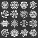 Płatków śniegu kredowi wektory royalty ilustracja