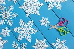 Płatków śniegu Papierowi rzemiosła Zdjęcie Stock
