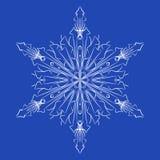 Płatków śniegu szczegółowi boże narodzenia ilustracyjni Obrazy Stock