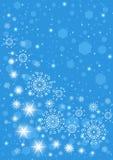 Płatka śniegu błękitny tło ilustracji