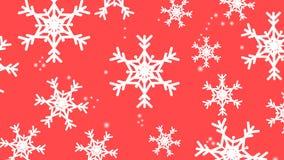 Płatka śniegu Czerwony tło w nowym roku royalty ilustracja