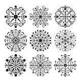 płatka śniegu dekoracyjny ustalony wektor Zdjęcia Stock