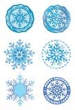 płatka śniegu kolorowy znaczek Obrazy Stock