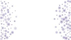 Płatka śniegu nowego roku i bożych narodzeń wakacje sztandar ilustracji