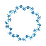 Płatka śniegu projekt dla ramowego tła również zwrócić corel ilustracji wektora pokrywa marznąca wzoru wektoru zima Mody grafika  Obrazy Stock