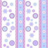 Płatka śniegu rozochocony wzór z koronką Royalty Ilustracja