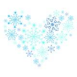 Płatka śniegu serce. Obraz Stock