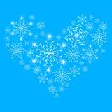 Płatka śniegu serce. Zdjęcie Royalty Free