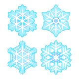 Płatka śniegu set Zdjęcia Stock