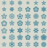 Płatka śniegu set Zdjęcia Royalty Free