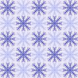 Płatka śniegu szachy wzoru bezszwowy tło Obraz Stock