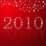 płatka śniegu szczęśliwy nowy czerwony rok Obraz Royalty Free