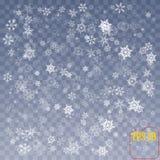 Płatka śniegu tła wektor Bożenarodzeniowy śnieżny spadek dekoraci effe Obrazy Royalty Free