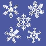 Płatka śniegu tła wzór Obrazy Royalty Free