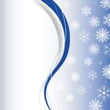 Płatka śniegu tło Obrazy Royalty Free