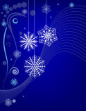 Płatka śniegu tło Fotografia Royalty Free