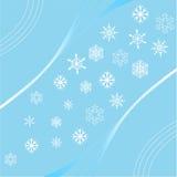 Płatka śniegu tło Obraz Royalty Free