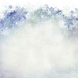 Płatka śniegu tło z pokojem dla kopii przestrzeni Obraz Stock