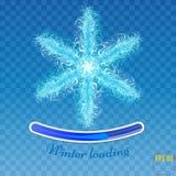 Płatka śniegu wektor Płatek śniegu odizolowywający na błękitnym tle Obrazy Stock