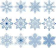 Płatka śniegu wektoru set Fotografia Royalty Free
