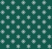 Płatka śniegu wzoru srebro na zielonym wektorze Zdjęcie Royalty Free