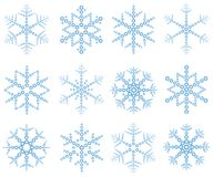 płatki śnieżni Obrazy Royalty Free