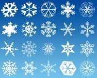 płatki śniegu 20 Zdjęcia Royalty Free